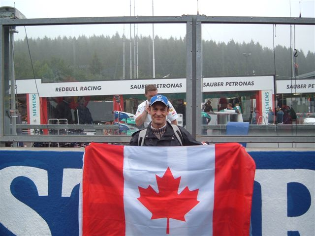 canada flag at jv's spa race 05